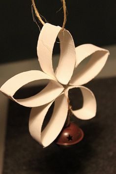 DIY: Cardboard Flower Ornament (made from a toilet paper roll!)