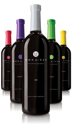 MonaVie Acai Juice -features a blend of the Brazilian açai berry—one of nature's top superfoods—and 18 other nutrient-dense, body-beneficial fruits.