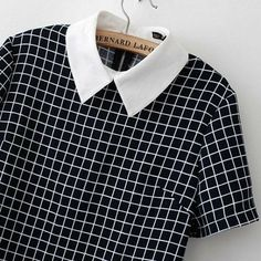 Apparel Accessories Independent Fake Collar Classic Plaid Check Detachable Shirt Fake Collar Detachable False Collar Literary Grid Shirt Clothes Accessories Boy's Accessories