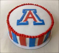 The Cake Baketress: A Simple Cheers to a University of Arizona birthday alum!