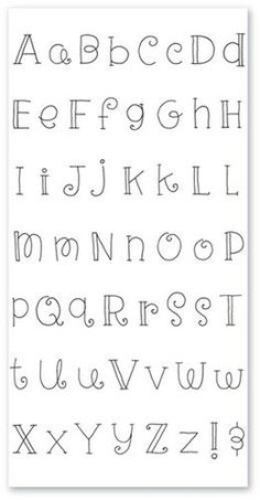 Alphabet Design, Fancy Fonts Alphabet, Handwriting Alphabet, Hand Lettering Alphabet, Fancy Letters, Doodle Lettering, Creative Lettering, Lettering Styles, Alphabet Art