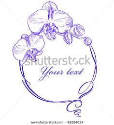 orchid silhouette vector free - Google Search