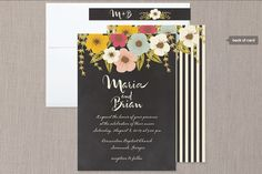 Plentiful Blossoms Wedding Invitations via Minted