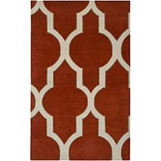 Hand-tufted Averlo Rust Area Rug (9' x 12')