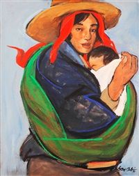 View Mother and Child by Benedicto Cabrera on artnet. Browse upcoming and past auction lots by Benedicto Cabrera. Madonna, Mother And Child Painting, Filipino Art, Philippine Art, Simple Acrylic Paintings, Art Paintings, Philippines Culture, Arm Art, Arts Award