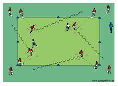 http://www.top-soccer-drills.com/1v1-receiving-square.html #soccer #passing #drill