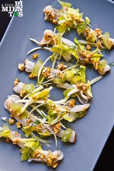 Razor clams with celery salad