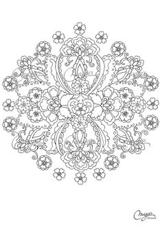 Masjas Mandala Coloring Page #4 made by Masja van den Berg - featuring 1 hand-drawn design for you to bring to life with color! Do you love to
