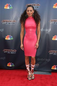 Melanie Brown attends America's Got Talent TV show