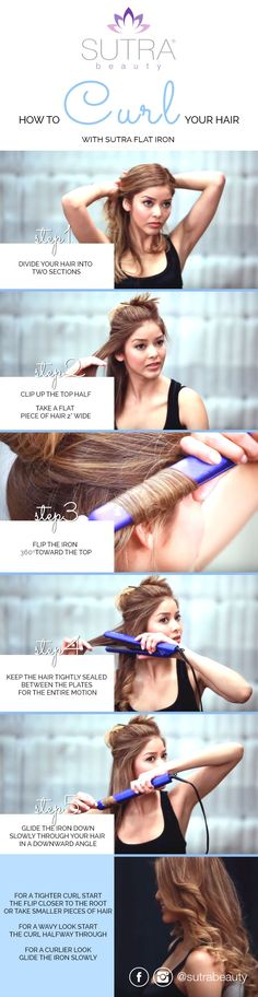 How To Curl Your Hair With a Sutra Hair Straightener (Video attached)