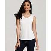 Eileen Fisher Petites' Sleeveless Silk Jersey Tank
