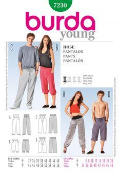 Burda Style B7230 Pants Sewing Pattern