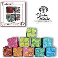 3-D Pop Cane polymer clay tutorial by Créations Cristalline, via Flickr