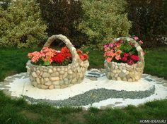 ghivece flori din cauciuc placate cu piatra de rau - Căutare Google