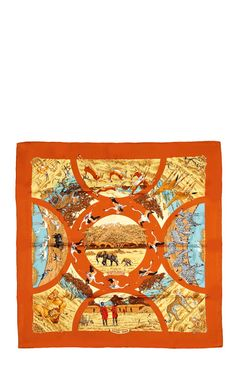 "Preorder Heritage Auctions Special Collections 90cm Hermes ""Tanzanie,"" by Robert Dallet Silk Scarf"