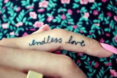 Endless love finger tattoo