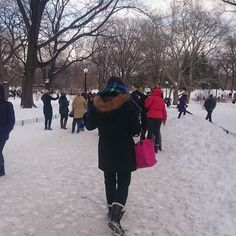 #tbt last winter in Central Park.  We're the result of our decisions