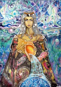 """""""YOU are Divine because it is your birthright. The Goddess lives and breathes through you. Look at the world through the eyes that she has gifted you. And from this place, you will Reconnect with your Wild and Sacred, knowing that these are essential parts of Unleashing who you are as a Woman."""" - Art by Olga Gubanova WILD WOMAN SISTERHOOD ™"""