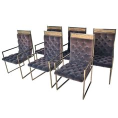 Rare Bernard Rohne Mastercraft Dining Chairs | From a unique collection of antique and modern dining room chairs at https://www.1stdibs.com/furniture/seating/dining-room-chairs/