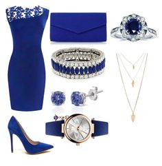"""""""blue"""" by surasalah12 ❤ liked on Polyvore featuring Roland Cartier, Kenneth Jay Lane, Effy Jewelry, Vivienne Westwood, Kobelli and Forever 21"""