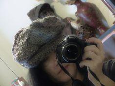 free form crochet newsboy cap