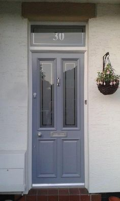Victorian front door refurb job in Farrow & Ball Oval Room Blue with ...