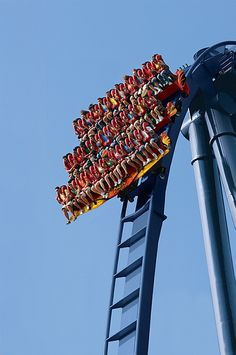 The Griffon @ Busch Gardens, Virginia - the most terrifying, exciting adrenaline pumping ride I've been on in the last three years - please let me go on again!