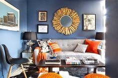 Despacho, vestidor y sala de estar tres en uno. Diseñado por Bryan Patrick Flynn con sus 40m2 podría ser una casa perfectamente. ¿Te gusta? #design #inspiracion #Deco #Work