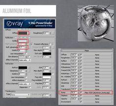 Vray Aluminum Foil Material 3ds max