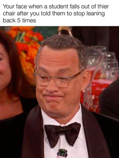 """Award-Deserving Memes Inspired By Tom Hanks' Grimace At The Golden Globes - Funny memes that """"GET IT"""" and want you to too. Get the latest funniest memes and keep up what is going on in the meme-o-sphere. Teacher Humour, Teaching Humor, Teacher Memes, My Teacher, Tom Hanks Meme, Classroom Memes, Political Speeches, Disney Fan, Teacher Problems"""