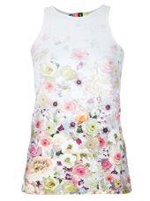 MSGM - sleeveless floral print top