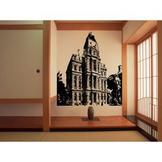 Boston City Local Attractions Wall Art Sticker Decal