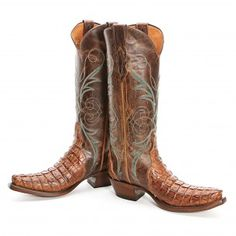 BootDaddy Collection with Lucchese Brown Caiman Cowgirl Boots available at www.pfiwestern.com