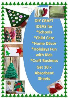 Christmas Decoration Craft DIY Designs-10 x Multi Purpose Absorbent Sheets Green   eBay