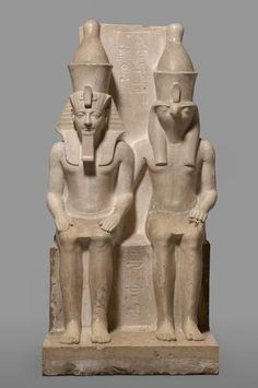 Sculpture of the god Horus and the king Horemheb   18   Dynasty, time of Horemheb, about 1343-1315 BC Chr.