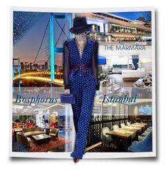 """Istanbul - Bosphorus - The Marmara Taksim Hotel (Orient Express Adventure)"" by kiki-bi ❤ liked on Polyvore featuring Stuart Weitzman, Charlotte Russe, Diane Von Furstenberg, Syna, Eugenia Kim, Charlotte Olympia and bathroom"