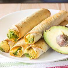 Avocado Hummus Taquitos