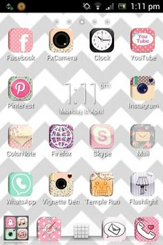 With Cocoppa for IPhone or Icon Changer for Android (then you have to download new icons from google) you can personalize your phone!