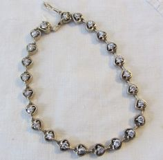 lovely & affordable vintage Sterling Heart Rhinestone Bracelet available at vintagecornucopia on #Etsy @vntgcornucopia