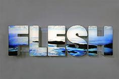 'FLESH' 2012 LED LIT LIGHTBOX BY DOUG AITKEN