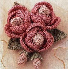 Blätter und Blüten Motiv häkeln -  crochet flower