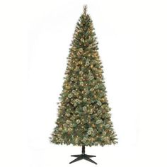 Martha Stewart Living 9 ft. Pre-Lit Alexander Quick Set Pine Artificial Christmas Tree with Surebright Clear Lights and Pinecones-ALE1500750SEC1 at The Home Depot
