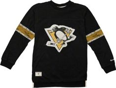 Pittsburgh Penguins Youth Vintage Jersey Long Sleeve Crewneck T-Shirt by Reebok. $29.99. Slip on this Pittsburgh Penguins Youth Vintage Jersey Long Sleeve T-Shirt and time-travel back to the days of helmet-less goalies and nickel popcorn! Featuring a distressed screen print on twill patch Penguins logo prominently displayed front and center, this Pittsburgh Penguins Youth Vintage Jersey Long Sleeve T-Shirt is an absolute must-have in any Pittsburgh Penguins fa...