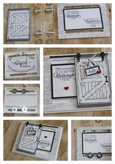 A bigger barn door makes it easier to use a larger washer which in turn makes the door slide much more easily. Fancy Fold Cards, Folded Cards, Merci Gif, Pop Up Karten, Horse Cards, Best Barns, Slider Cards, Window Cards, Stamping Up Cards