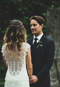 charmante robe de mariee dos transparent elegante