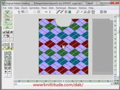 DesignaKnit 8 Original Pattern Tutorial - Layout Your Stitch Pattern Directly In Original Pattern Drafting