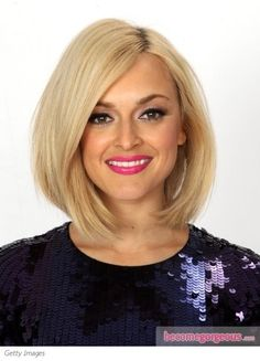Fearne Cotton wears her smooth-as-ice bob styled form a side part with slightly curved under ends. To copy, work through hair with glossifier, then use a flat iron with narrow plates to create the ...