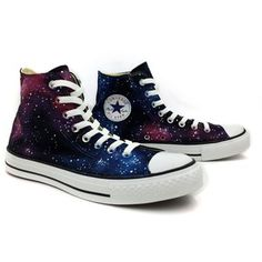 b08639dcbb09 Converse All Star Purple Nebula Galaxy Hand Painted High Top Canvas Shoes  Women Men Sneakers Cool