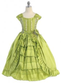 Girls Dress Style NP6507 - SALE Lime size 2