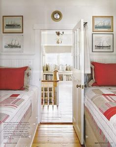 "Cute tiny bedroom! ......PMD Design Inspirations: ""Turning The Tide"" - Canadian House & Home, October 2011 Article"